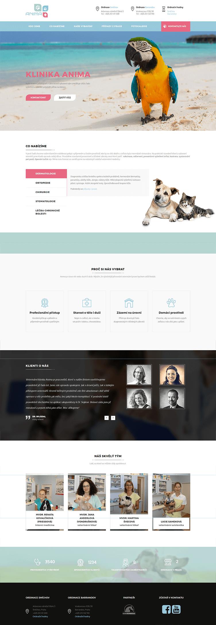 klinika anima – web na šabloně