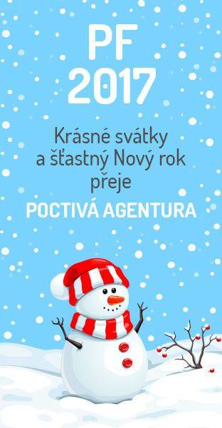 Krásné svátky a šťastný nový rok přeje POCTIVÁ AGENTURA