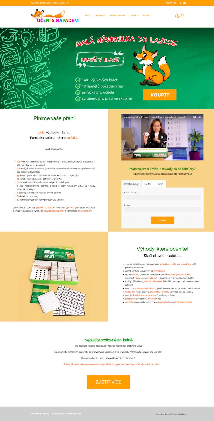Učení s nápadem – e-shop